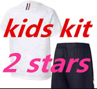 New 2018 2 Star France Jersey for Kids 3-14Y Football Shirt Champion Patch