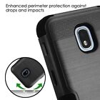 Black HYBRID Armor Dual Layer Rugged TPU Cover For Samsung GALAXY J3 '18 V Case