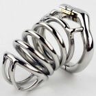 NEW High Quality Male Chastity Device 80MM Long Bird Cage With Curve Ring S050