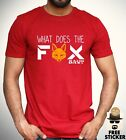 What Does The Fox Say T shirt Funny Viral Meme Tee Cool Gift Top Mens S - XXL