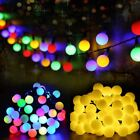 Multicolor 50 Leds solar light series waterproof outdoor ball fairy string