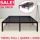 METAL PLATFORM BED FRAME Steel Slat Twin Full Queen King Siz