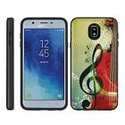 For Samsung Galaxy J7 (2018) J737 Slim Armor Grooved Hard Shell Hybrid Case