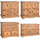 'Corona 1 2 3 4 Door Drawer Mexican Solid Waxed Pine Living Room Furniture Unit