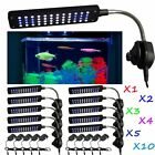 1-10pcs Clip Lamp Light High Lumen 48 LED Aquarium Fish Tank White & Blue LOT UR