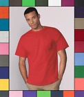 Gildan Mens Pocket T Shirt Heavy Cotton Short Sleeve Blank Tee Top Shirts G530 image