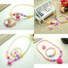 Cute Ring Set Jewelry Princess Baby Beads Children Girls Gift Necklace Bracelet