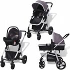 Baby Pram 3in1 Pushchair Stroller Car Seat Carry Cot Set Travel System Buggy UK