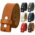 Falari Replacement Genuine Leather Belt Strap Without Buckle Snap on Strap 1.5