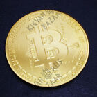 Bitcoin Gold Plated Commemorative Coin Collectible Display Canada FREE FAST SHIP