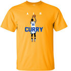 "GOLD Steph Curry Golden State Warriors ""Air Pic"" T-Shirt on eBay"