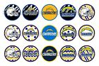 """NFL Los Angeles Chargers PRE CUTS or DIGITAL SHEET 1"""" Circle Bottle Caps $2.5 USD on eBay"""