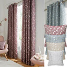 Lola Metallic Leaf Texture Lined Curtains (pair Of) - Now £10, £15 & £20
