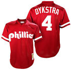 Lenny Dykstra #4 Philadelphia Phillies Men's Red Cooperstown Throwback Jersey on Ebay