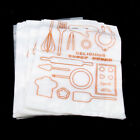 100x Plastic Food Packing Merchandise Bags with Handle Leakage-proof White