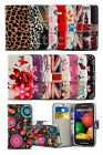 Alcatel One Touch Pixi 3 (4.5) Dual SIM - Colourful Printed Pattern Wallet Case