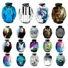 Hoodie 3D Graphic Print Long Sleeve Sweatshirt Couples Pullover Jacket Coat Tops