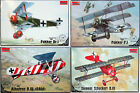 Roden 1/32 German WWI Fighters Sell As a Set Of 4 Kits Or Separate