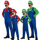 Mario and Luigi Costumes Kids Super Mario Bros/Brothers Hall