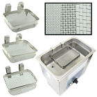 """Ultrasonic Jewelry Cleaning Baskets 5"""" x 4"""" Stainless Steel Mesh for Small Parts"""