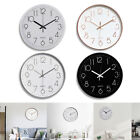 12 3D Modern Outdoor Wall Clock Silent Non-ticking Digital Battery Quartz Home