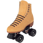 New Tan Suede Riedell Zone Outdoor Quad Roller Skates w/ ZEN Wheels Med. Width