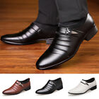 Mens Oxfords Leather Shoes Casual Pointed Toe Wedding Formal Office Work Shoes