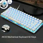 AK33 Mechanical Keyboard Blue Black Switch 82-Keys Backlit Gaming Keyboard