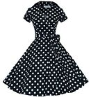 ROBE SEXY PIN UP 38 40 RéTRO VINTAGE POIS 50s 60s DRESS ROCKABILLY SWING DOTS