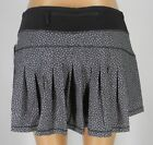 NEW LULULEMON Circuit Breaker Skirt REG 10 12 Frozen Fizz Black White Run Tennis