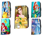Disney leather phone case Inspired Ariel Belle Cinderella for Samsung Huawei