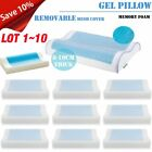 Memory Foam Pillow w/ Cooling Gel - Orthopedic Bed Pillow - Reversible LOT MY image