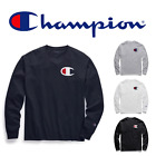 New Authentic Champion Men Jersey Big C logo Long Sleeves T-Shirt GT78H Y06591 image