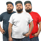 3 Pack Plus Size Mens Cotton Tshirt White Black T shirt Grey Red Navy Top SALE