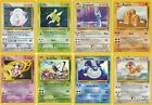 Pokemon Official Trading Cards Common & Uncommon Base Set 2 Collection Set /130