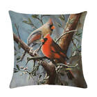 Cotton Linen Square Pillow Case Country Style Flowers Bird Throw Pillow Cover