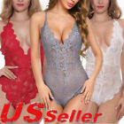 Lingerie for Women Teddy Sexy Lingerie One Piece Babydoll Mini Bodysuit US FAST