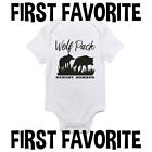 Wolf Pack Baby Onesie Shirt Shower Gift Newborn Clothes Infant Gerber
