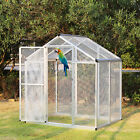6'x4' Bird Cage Walk In Aluminum Large Aviary Parrot Pet House Supplies, w/Door
