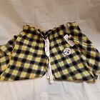 NWT Pittsburgh Steelers Womens Plaid PJ Lounge Pants Drawstring Cotton Blend