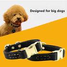Genuine Leather Adjustable Dog Collar Clip-In Buckle Real Tough CowHide Collar