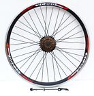 26* QR MOUTAIN BIKE REAR WHEEL WITH SHIMANO COGS FITTED, 6 / 7 / 8 / 9 SPEED