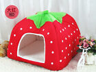 Pet Bed Dog House Warm Cushion Basket Strawberry Pad KennelDoggy Puppy Cat Soft