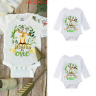 Christmas Autumn Clothes Infant Baby Girls Boys Long Sleeve Romper Jumpsuit US