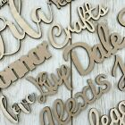 *any Font* Personalised Wooden Script Name Plaque Sign - Words Letters Mdf/birch