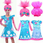 Chic Toddler Kid Girl Wig Trolls Poppy Fancy Dress Costume Cosplay Party Outfit^