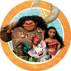 24 x 4cm Moana Personalised Stickers Round Birthday Party Labels