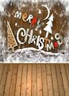 3/5/7ft Christmas Photography Photo Backdrop Background Wood Wall Floor Flower