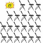 5/10/15/20 Black Commercial Quality  Plastic Folding Chair  Wedding Party Chairs