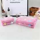 Soft Pet Flannel Blanket Bed Mat Pad Cover Coral Cushion For Dog Cat Puppy QP